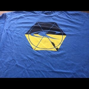 O'Neill Men's Blue Black yellow Graphic t-Shirt xl